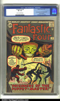Silver Age (1956-1969):Superhero, Fantastic Four #8 (Marvel, 1962) CGC VF+ 8.5 Cream to off-white pages. This early issue of Fantastic Four contains the f...