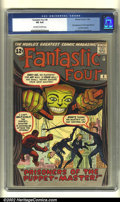 Silver Age (1956-1969):Superhero, Fantastic Four #8 (Marvel, 1962) CGC VG 4.0 Off-white to white pages. The Puppet-Master makes his first appearance on the co...