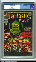 Silver Age (1956-1969):Superhero, Fantastic Four #49 (Marvel, 1966) CGC NM+ 9.6 Off-white pages. Silver Surfer and Galactus get their first cover feature on t...