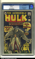 Silver Age (1956-1969):Superhero, The Incredible Hulk #1 (Marvel, 1962) CGC FN 6.0 Cream to off-white pages. A dynamic cross between Dr. Jekyll and Mr. Hyde a...