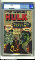 Silver Age (1956-1969):Superhero, The Incredible Hulk #2 (Marvel, 1962) CGC VF+ 8.5 White pages. Here is a magnificent copy of the classic second issue by the...