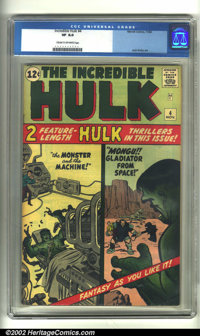 The Incredible Hulk #4 (Marvel, 1962) CGC VF 8.0 Cream to off-white pages. Jack Kirby was at his early 1960s finest on t...