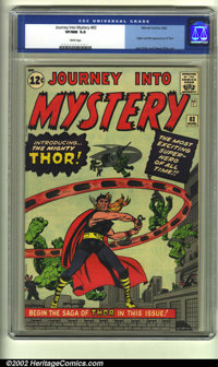 Journey into Mystery #83 (Marvel, 1962) CGC VF/NM 9.0 White pages. Making his introduction Marvel style, the mighty Thor...