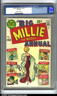 Millie the Model Annual #1 (Marvel, 1962) CGC VF+ 8.5 Off-white to white pages. Here is a book that never seems to come...