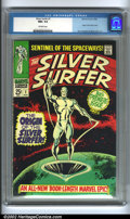 Silver Age (1956-1969):Superhero, The Silver Surfer #1 Edenwald pedigree (Marvel, 1968) CGC NM+ 9.6 Off-white pages. The Sentinel of the Spaceways has arrived...