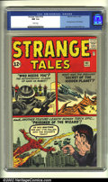 Silver Age (1956-1969):Superhero, Strange Tales #102 (Marvel, 1962) CGC NM 9.4 White pages. This spellbinding Jack Kirby cover introduces the first appearance...