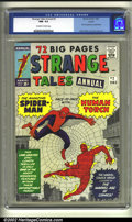 Silver Age (1956-1969):Superhero, Strange Tales Annual #2 Circle 8 pedigree (Marvel, 1963) CGC NM- 9.2 Off-white to white pages. Jack Kirby's effect somehow m...