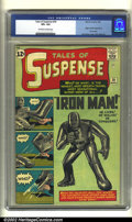 Silver Age (1956-1969):Superhero, Tales of Suspense #39 (Marvel, 1963) CGC VF+ 8.5 Off-white to white pages. One of the most important Marvel characters, Iron...