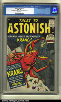 """Silver Age (1956-1969):Horror, Tales to Astonish #14 (Marvel, 1956) CGC VF- 7.5 Off-white pages.""""You will never ever forget Krang!"""" It's unbelievable how ..."""