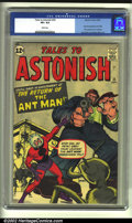 Silver Age (1956-1969):Superhero, Tales to Astonish #35 (Marvel, 1962) CGC VF+ 8.5 White pages. Featuring the second appearance of Ant-Man (his first in costu...