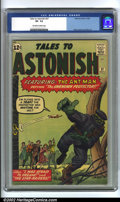 Silver Age (1956-1969):Superhero, Tales to Astonish #37 (Marvel, 1962) CGC VF- 7.5 Off-white to white pages. This fourth appearance of Ant-Man has a great cov...