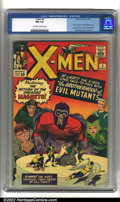 Silver Age (1956-1969):Superhero, X-Men #4 (Marvel, 1964) CGC NM 9.4 Off-white to white pages. Magneto assembles the Brotherhood of Evil Mutants in this histo...