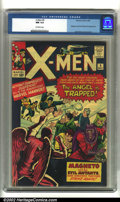 Silver Age (1956-1969):Superhero, X-Men #5 (Marvel, 1964) CGC NM 9.4 Off-white pages. Magneto and the Brotherhood of Evil Mutants reappear in this issue to ha...
