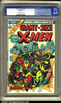 Giant-Size X-Men #1 (Marvel, 1975) CGC NM 9.4 Cream to off-white pages. This is the first appearance of the new X-Men, a...