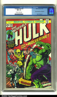 The Incredible Hulk #181 (Marvel, 1974) CGC NM- 9.2 Off-white to white pages. Wolverine's first full appearance is witho...