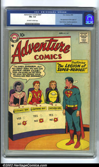 Adventure Comics #247 (DC, 1958) CGC FN+ 6.5 Off-white to white pages. Here is one of the most important Silver Age keys...