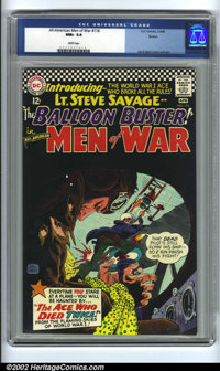 All-American Men of War #114 Boston pedigree (DC, 1966) CGC NM+ 9.6 White pages. The black cover makes this book almost...