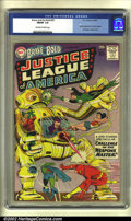 Silver Age (1956-1969):Superhero, The Brave and the Bold #29 (DC, 1960) CGC FN/VF 7.0 Off-white to white pages. The Justice League of America makes their seco...
