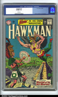 Hawkman #1 (DC, 1964) CGC VF/NM 9.0 White pages. After Joe Kubert handled Hawkman in Brave and the Bold, Murphy Anderson...