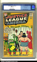 Silver Age (1956-1969):Superhero, Justice League of America #7 (DC, 1961) CGC NM 9.4 Off-white to white pages. The entire Justice League team is featured on t...