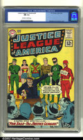 Silver Age (1956-1969):Superhero, Justice League of America #8 (DC, 1962) CGC NM 9.4 Off-white to white pages. Wonder Woman, Green Lantern and the rest of the...