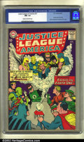 Silver Age (1956-1969):Superhero, Justice League of America #21 (DC, 1963) CGC NM- 9.2 Cream to off-white pages. Rising from the ashes of the Golden Age came ...