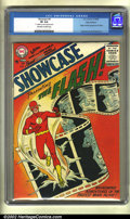 Silver Age (1956-1969):Superhero, Showcase #4 Ohio - Fairborn pedigree (DC, 1956) CGC VF 8.0 Off-white to white pages. Ushering in the Silver Age, this book r...