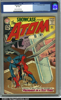 Showcase #36 (DC, 1962) CGC VF 8.0 Cream to off-white pages. The Atom makes his third appearance of the Silver Age in th...
