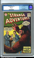 Silver Age (1956-1969):Science Fiction, Strange Adventures #117 (DC, 1960) CGC FN/VF 7.0 Off-white pages.This key issue is the origin and first appearance of the A...