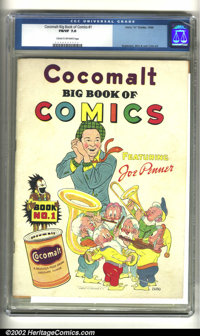 Cocomalt Big Book of Comics #1 (Chesler, 1938) FN/VF 7.0 Cream to off-white pages. Talk about obscure! Talk about RARE!...