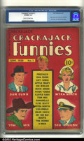 Golden Age (1938-1955):Humor, Crackajack Funnies #1 (Dell, 1938) CGC VF/NM 9.0 Cream to off-white pages. WOW! Books from 1938 rarely turn up in this grade...