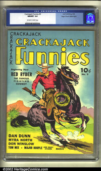 Crackajack Funnies #9 Mile High pedigree (Dell, 1939) CGC NM/MT 9.8 Off-white to white pages. The condition makes this b...