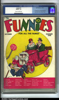 Platinum Age (1897-1937):Miscellaneous, Funnies #1 (Dell, 1936) CGC FN/VF 7.0 Cream to off-white pages.This first book features many classic cartoon strip characte...