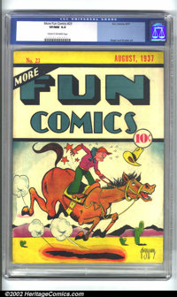 More Fun Comics #23 (DC, 1937) CGC VF/NM 9.0 Cream to off-white pages. Pre-hero issues of More Fun are incredibly rare...