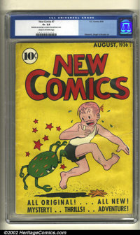 New Comics #7 (DC, 1936) CGC GD+ 2.5 Cream to off-white pages. Here is a solid copy of this extremely rare book that can...