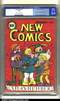 New Comics #11 (DC, 1936) CGC GD 2.0 Cream to off-white pages. The last issue of this run sports a nice Christmas cover...