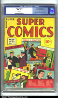 Golden Age (1938-1955):Adventure, Super Comics #1 Mile High pedigree (Dell, 1938) CGC NM+ 9.6 Whitepages. It is truly amazing that even the Mile High copy is...