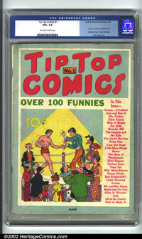 Tip Top Comics #1 (United Features Syndicate, 1936) CGC VG+ 4.5 Off-white to white pages. The cover to this incredibly e...