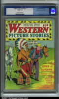 Golden Age (1938-1955):Western, Western Picture Stories #3 Mile High pedigree (Comics Magazine,1937) CGC VF/NM 9.0 Off-white to white pages. Here is a grea...