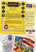 Memorabilia:Comic-Related, Junior Justice Society of America Kit (DC, 1945). This Junior justice Society of America kit contains an original envelope (...