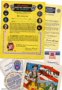 Junior Justice Society of America Kit (DC, 1945). This Junior justice Society of America kit contains an original envelo...