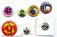 Golden Age Lot of Various Pinbacks (1939-1960s). This pinback lot consists of seven pins from the late 1930s to the late...