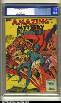Amazing Mystery Funnies #20 Mile High pedigree (Centaur, 1940) CGC VF- 7.5 White pages. Centaurs are notoriously hard to...