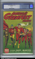 Golden Age (1938-1955):Superhero, America's Greatest Comics #1 Mile High pedigree (Fawcett, 1941) CGC NM 9.4 White pages. Stunning! Any seasoned collector kno...