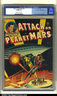 Attack on Planet Mars #nn Mile High pedigree (Avon, 1951) CGC VF/NM 9.0 Off-white to white pages. Wally Wood, Carmine In...