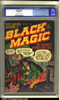 Golden Age (1938-1955):Horror, Black Magic #1 (Prize, 1950) CGC VF/NM 9.0 Cream to off-whitepages. Jack Kirby's art is apparent on the cover to this class...