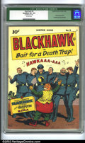 Golden Age (1938-1955):War, Blackhawk #9 (Quality, 1944) CGC Qualified VF+ 8.5 Off-white pages.A stunning example of this first Blackhawk issue (the pr...
