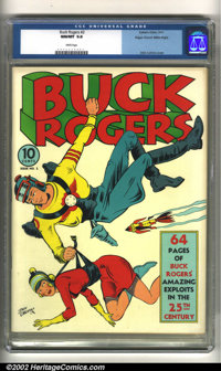 Buck Rogers #2 Mile High pedigree (Eastern Color, 1941) CGC NM/MT 9.8 White pages. This spellbinding Dick Calkins cover...