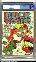 Golden Age (1938-1955):Science Fiction, Buck Rogers #3 Mile High pedigree (Eastern Color, 1941) CGC NM+ 9.6White pages. Offered here is an incredibly bizarre Buck ...