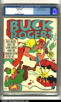 Buck Rogers #3 Mile High pedigree (Eastern Color, 1941) CGC NM+ 9.6 White pages. Offered here is an incredibly bizarre B...